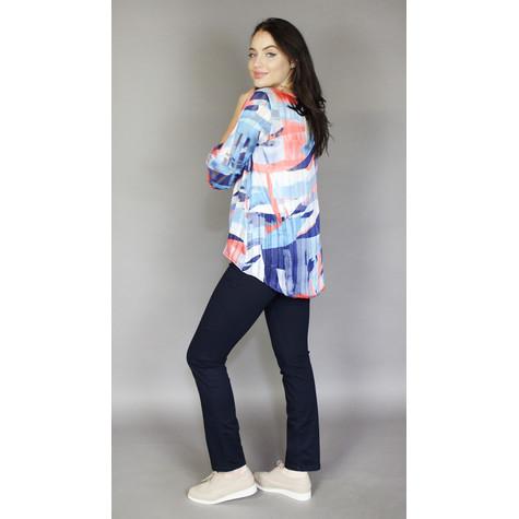 Zapara Blue & Coral Shimmer Light Top