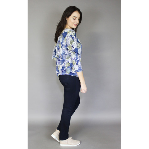 SophieB Navy & Lemon Mini Floral Print Top