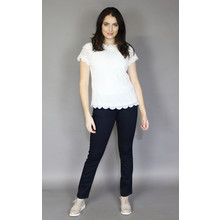 Zapara White Crochet Summer Top