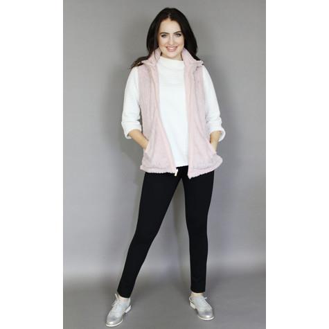 Teezher Pink Faux Fur Sleeveless Jacket