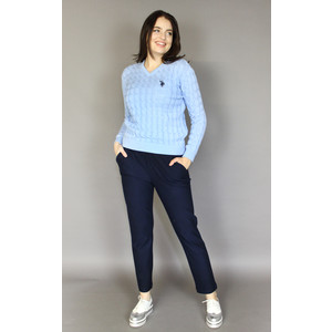 Twist Sky Blue V-Neck Knit