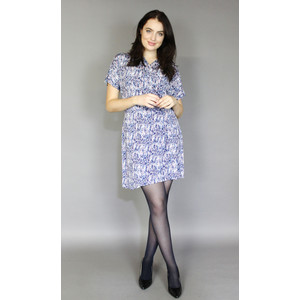 Zapara Pink & Blue v-Neck Wrapped Dress
