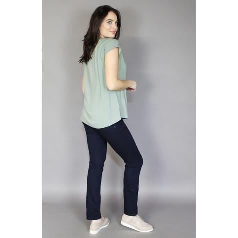 Twist Light Khaki Crop Sleeve Loose Top