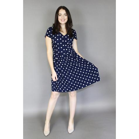 Ronni Nicole Navy & White Polka Dot Dress