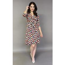 Zapara Off White Multi-Print Wrap Dress