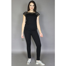 Zapara Black Lace Top