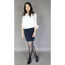 Zapara Navy Basic Rib Skirt