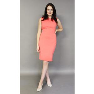 Zapara Coral Stud Neckline Sleeveless Dress