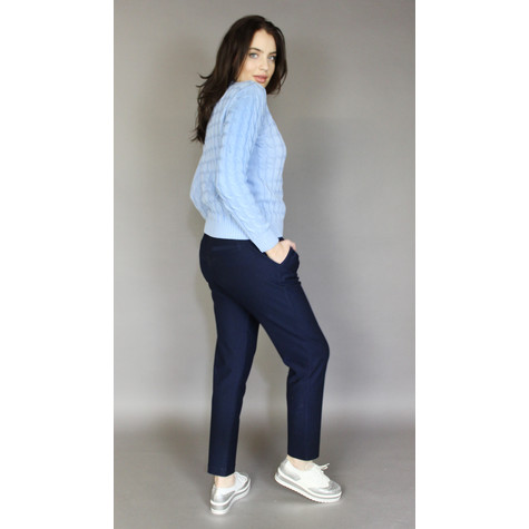 Zapara Easy Navy Straight Trousers
