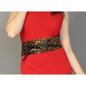 Pamela Scott Leopard Print Belt