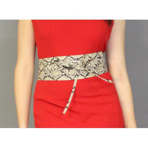 Pamela Scott Beige Shake Print Belt