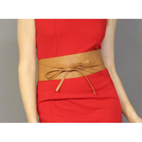 Pamela Scott Tan Tie Around Belt