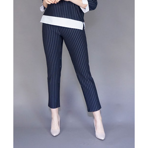 Zapara Navy Pinstripe Easy Pants