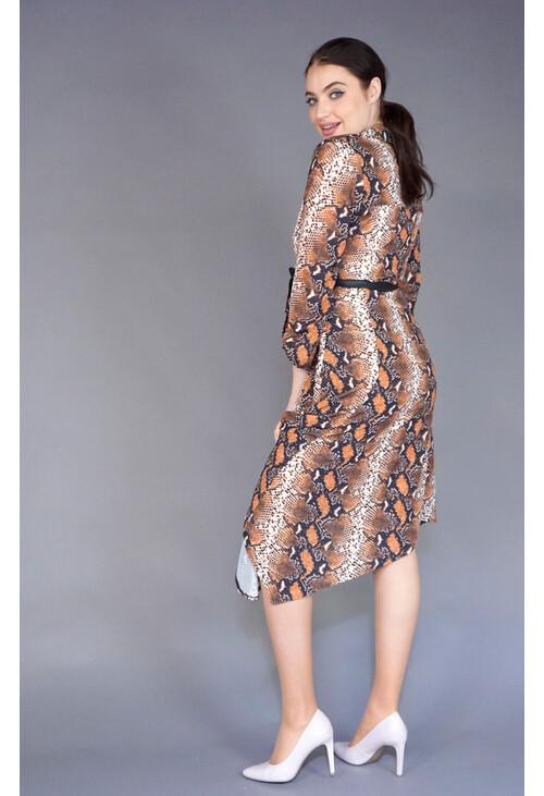 IOS Gold & Black Marron Shirt Dress