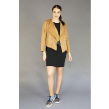 IOS Camel Open Crop Jacket
