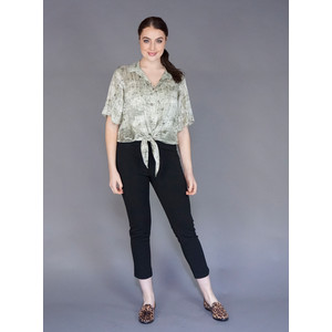SophieB Khaki Button Up Blouse