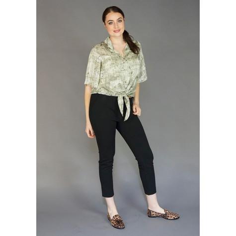 SophieB Khaki Button Up Blouse