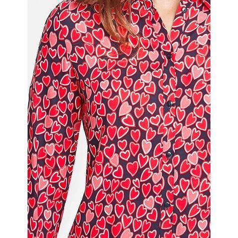 Gerry Weber Long Sleeve Hearts Print Blouse