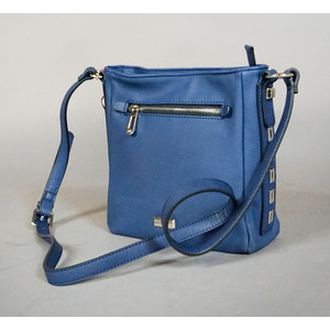 Gionni Navy Zip Detail Cross Body Bag