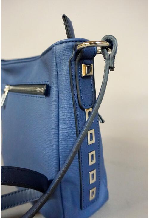 Gionni Navy Zip Detail Cross Body Bag