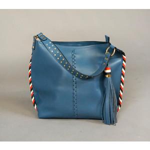 Bestini Blue Tassel Detail Handbag