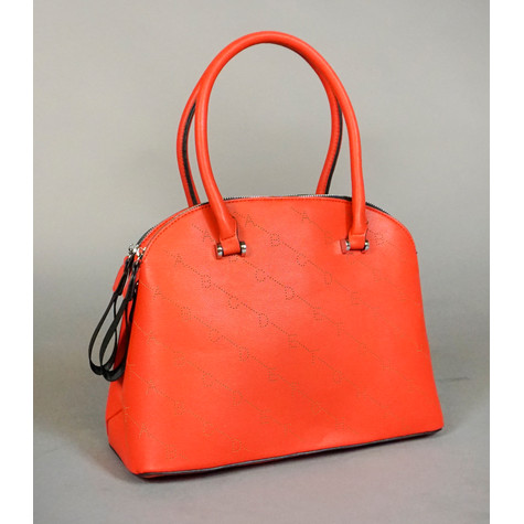 Mimosa Rouge Double Zip Leather Strap Handbag