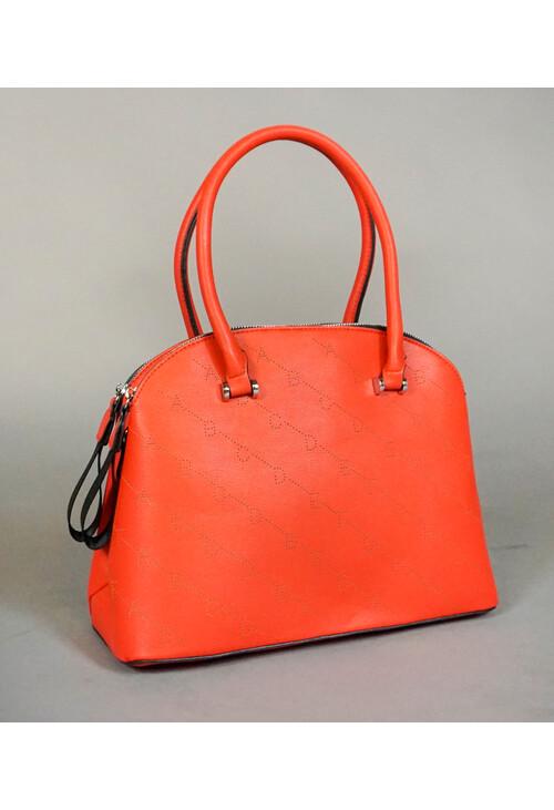 Mimosa Rouge Double Zip Leather Strap Handbag