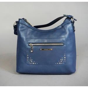 Gionni Navy Stud Detail Handbag