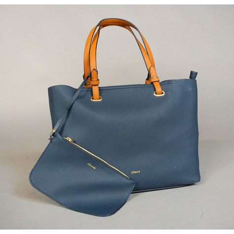 Gionni Double Handle Tan & Navy Bag