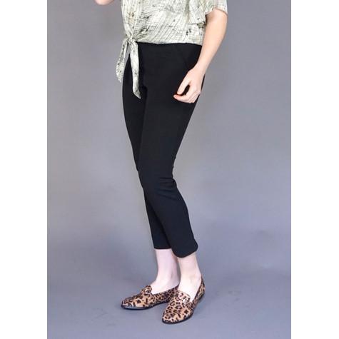 IOS Black Crop Slim Trousers