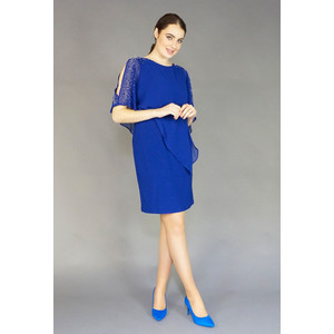 Scarlett Bella Cape Diamante Detail Dress