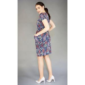 6102384f52 Zapara Navy Colourful Floral Print Dress