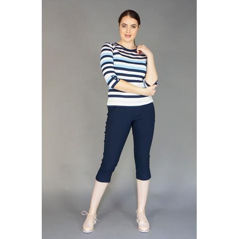 Twist Navy & White Large Stripe Top