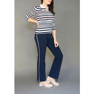 Pamela B Navy & Rose Stripe Tracksuit Pants