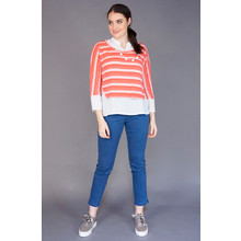 SophieB Coral 2 in 1 Stripe Knit Top