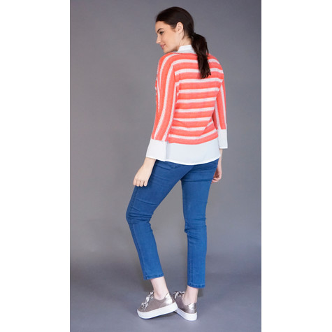 SophieB Coral 2 in 1 Stripe Knit Top