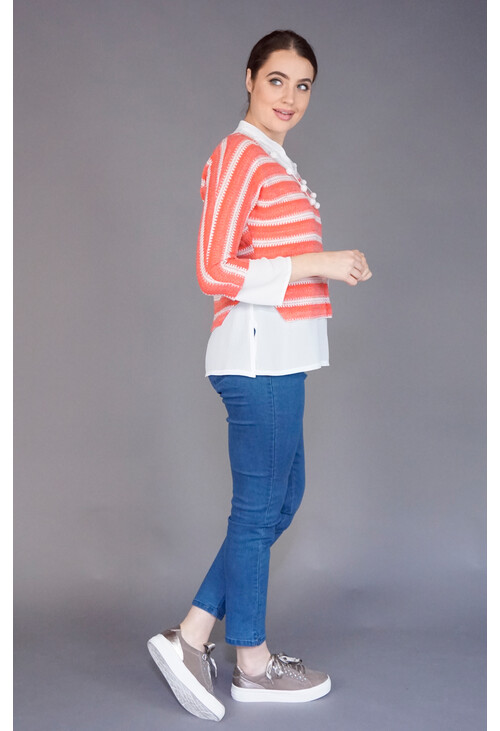 Sophie B Coral 2 in 1 Stripe Knit Top