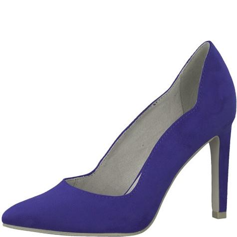 Marco Tozzi Royal Blue Hi-heel Court Shoe