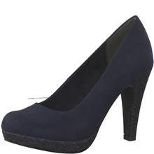 Marco Tozzi Navy Platform Court Shoe