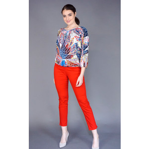 Zapara Missoni Multi Colour Blue Tassel Top