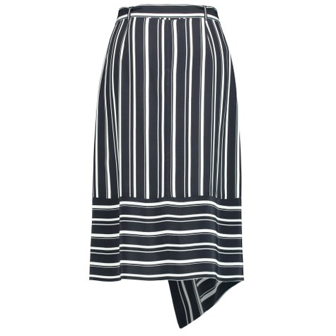 Gerry Weber Blue & White Skirt with Symmetrical Throw