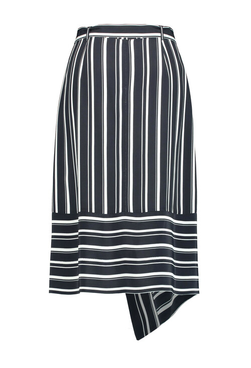 Gerry Weber Blue & White Skirt with Symmetrical Throw