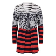 Betty Barclay Dark Blue/Red T-shirt jacket with Jacquard