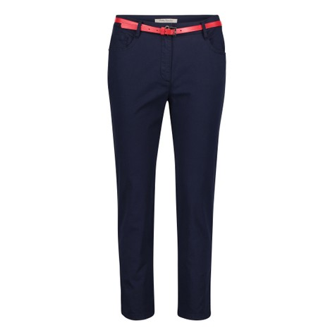 Betty Barclay Navy Trouser With Red Belt Accessory
