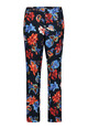 Betty Barclay Dark Blue/Red Floral Print Trousers