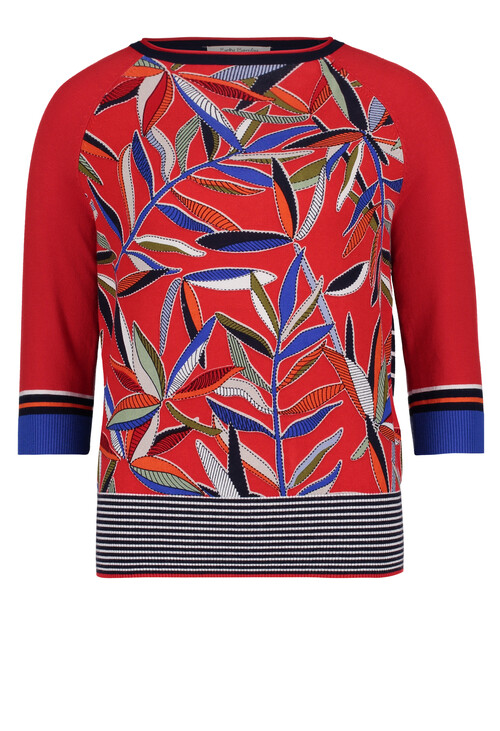 Betty Barclay Fine knit jumper With a Floral Print