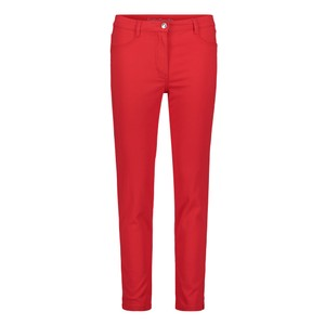 Betty Barclay Hibiscus Red Basic trousers With side slits