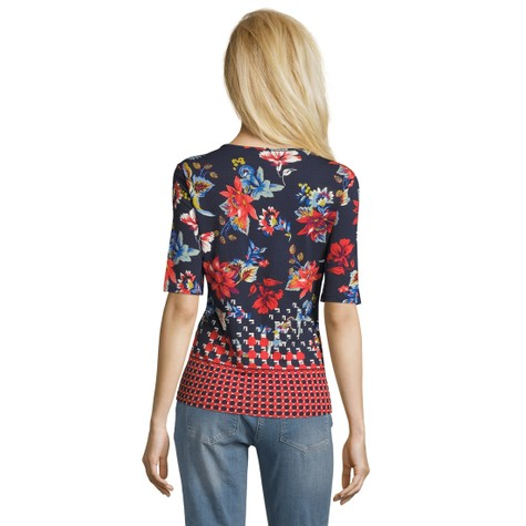 Betty Barclay Dark Blue/Red Floral Print Top