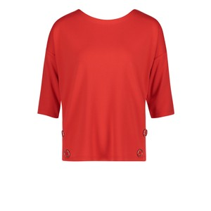 Betty Barclay Hibiscus Red Sweatshirt