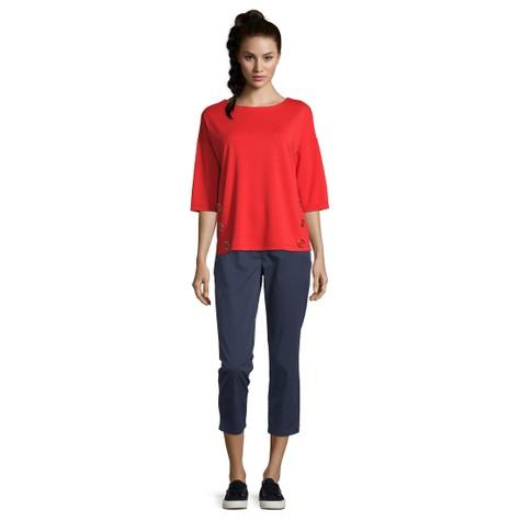Betty Barclay Hibiscus Red Sweatshirt